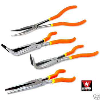 4pc NEIKO TOOL USA PROFESSIONAL 11 LONG NOSE PLIER SET