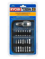 15pc RYOBI SPEED LOAD RAPID QUICK CHANGE SCREWDRIVER SCREW DRILL BIT SET AR2006