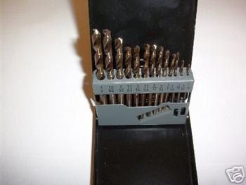 13pc NEIKO USA COBALT HSS SPLIT POINT DRILL BIT SET