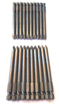 20 ENKAY 3-1/2 PHILLIPS #2 SCREW DRIVER BITS MAGNETIC TIPS ROUND SHAFT PH2