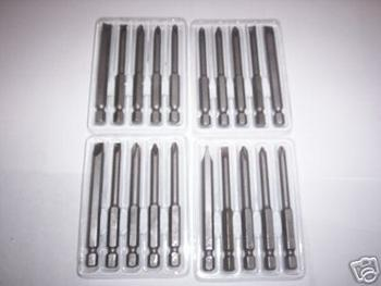 20 IIT 3 PHILLIPS & FLAT POWER DRILL SCREW DRIVER BITS