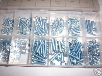 347pc NUT BOLT SCREW AND WASHER ASSORTMENT