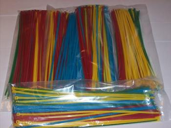500 14 NYLON WIRE CABLE ZIP TIES RED BLUE GREEN YELLOW