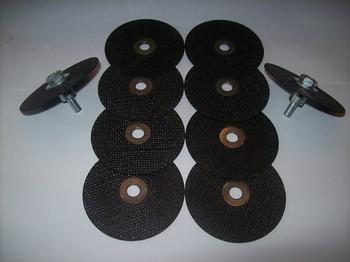 10 3 CUT-OFF WHEELS WITH 2 MANDRELS NEIKO TOOLS USA