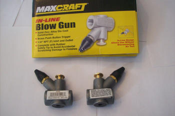 2 MAXCRAFT IN-LINE AIR COMPRESSOR BLOW GUNS