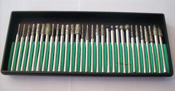 30pc DIAMOND BURR BIT SET FITS DREMEL TOOL 40 GRIT