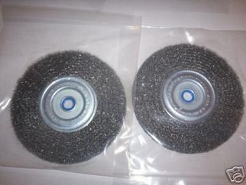 2 PITBULL 6 STEEL WIRE WHEEL BRUSHES FOR BENCH GRINDER