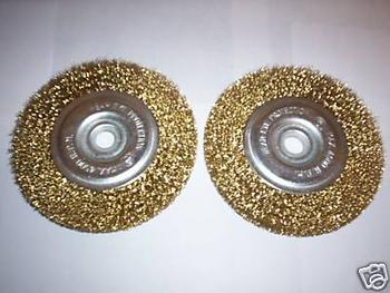 2pcs 4-1/2 CRIMPED STEEL WIRE WHEELS FOR ANGLE GRINDER