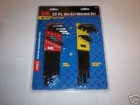 22pc MICHIGAN INDUSTRIAL LONG ARM ALLEN HEX KEY SET