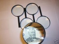 4 JUMBO MAGNIFYING GLASSES 4 GLASS LENSE 4X POWER