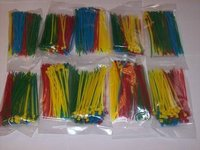 1000 4 NYLON WIRE CABLE ZIP TIES RED BLUE GREEN YELLOW