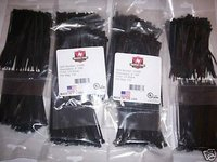 1000 BLACK 4 NYLON WIRE CABLE ZIP TIES MADE IN USA