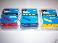 250 IDEAL BUTT SPLICE CONNECTORS VINYL RED BLUE YELLOW
