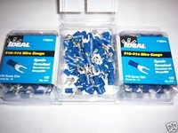 300 IDEAL #10 SPADE TERMINAL WIRE CONNECTORS BLUE VINYL