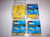 200 IDEAL #10 SPADE TERMINAL WIRE CONNECTORS YELLOW