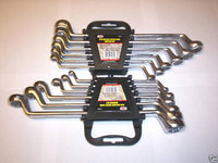 12pc DEEP OFFSET DOUBLE BOX END RING WRENCH SET SAE & METRIC