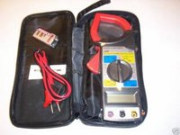 CALHAWK DIGITAL CLAMP METER LCD W/CASE TEST LEADS AC DC