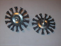 2pcs 3 KNOTTED TWISTED COARSE WIRE WHEELS FOR DRILLS