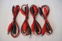 4 SETS 30 WIRE TEST LEADS ALLIGATOR ROACH CLIP POS/NEG