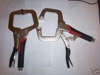 2 SUPER GRIP VISE GRIPS 11 LOCKING C CLAMP PLIERS