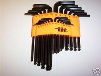 25pc INDUSTRIAL BALL END ALLEN HEX KEY DRIVER SET