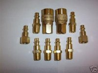 10pc SOLID BRASS QUICK COUPLER & AIR HOSE FITTING SET