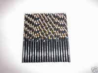 50 BLACK & GOLD HIGH SPEED STEEL DRILL BITS 1/16